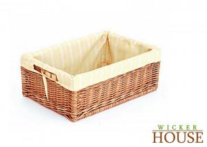Lined Wicker Basket