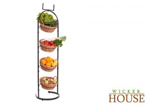 Wicker Baskets Floor Stand