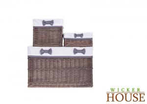 Brown Wicker Baskets Set