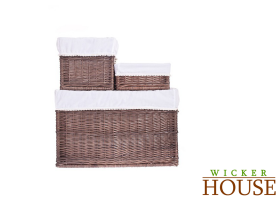 Brown Wicker Baskets Set