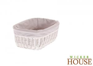 White Wicker Basket Lined