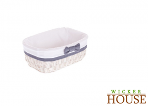 White Wicker Basket Lined