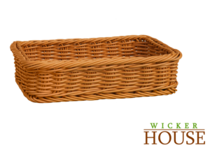 Polywicker Basket PB1052 Yellow Oak