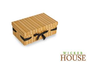 Wicker Effect Cardboard Hamper