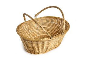 Light Wicker Shopping Basket