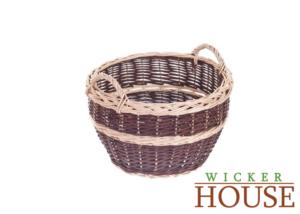 Small outdoor wicker basket