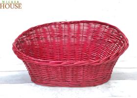 Crimson wicker tray